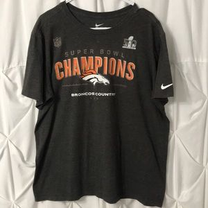 Denver Broncos Nike Super Bowl 50 champion t-shirt